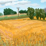 Danny Mooney 'Field, 4/8/2015' iPad painting #APAD
