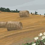Danny Mooney 'More hay bales, 11/8/2015' iPad painting #APAD