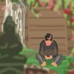 Danny Mooney 'Nicky and Buddha, 6/8/2015' iPad painting #APAD