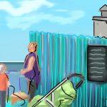 Danny Mooney 'The Bathing Hut Café, 16/8/2015' iPad painting #APAD