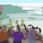 Danny Mooney 'Blessing the sea, 27/9/2015' iPad painting #APAD