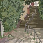 Danny Mooney 'Gas Works Steps, 15/10/2015' iPad painting #APAD