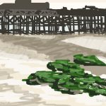 Danny Mooney 'Low tide, sand, 3/10/2015' iPad painting #APAD