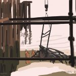 Danny Mooney 'Under the pier, 4/10/2015' iPad painting #APAD