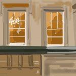 Danny Mooney 'Bristol Registry Office, 6/11/2015' iPad painting #APAD