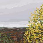 Danny Mooney 'Train, 6/11/2015' iPad painting #APAD
