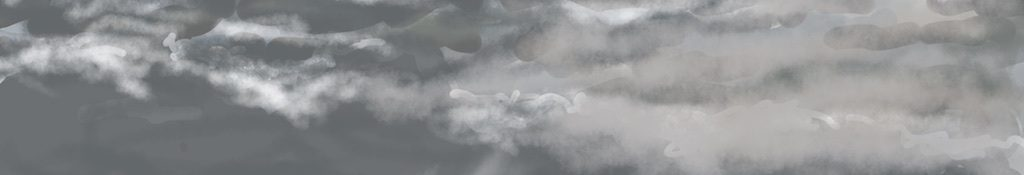 Danny Mooney 'Clouds, 30/1/2016' iPad painting #APAD
