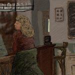 Danny Mooney 'The Hampton Inn, 26/1/2016' iPad painting #APAD