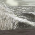 Danny Mooney 'Even rougher sea, 7/2/2016' iPad painting #APAD