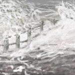 Danny Mooney 'Ridiculously rough sea, (Storm Imogen), 8/2/2016' iPad painting #APAD