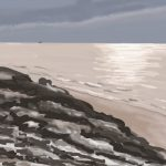 Danny Mooney 'Rocks at low tide, 24/2/2016' iPad painting #APAD