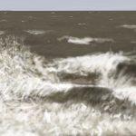 Danny Mooney 'Rough sea, 6/2/2016' iPad painting #APAD