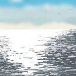 Danny Mooney 'Gulls, 4/3/2016' iPad painting #APAD