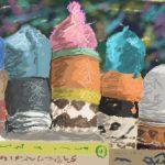 Danny Mooney 'Hats, 10/3/2016' iPad painting #APAD