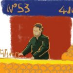 Danny Mooney 'Orange juice, Jemaa el Fna, 8/3/2016' iPad painting #APAD