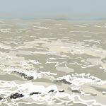 Danny Mooney 'Rolling sea, 1/3/2016' iPad painting #APAD