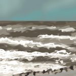 Danny Mooney 'Storm Katy, 27/3/2016' iPad painting #APAD
