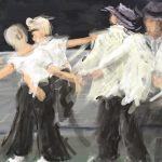 Danny Mooney 'And there was dancing, 21/5/16' iPad painting #‎APAD