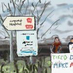 Danny Mooney 'Junior Doctors, 26/4/16' iPad painting #APAD