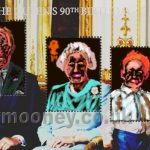 Danny Mooney 'QEII Stamps redesigned, 25/4/16' iPad painting #APAD