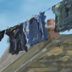 Danny Mooney 'Washing, 8/5/16' iPad painting #APAD
