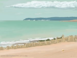 Danny Mooney 'Beachy Head, 26/7/16' iPad painting #APAPD