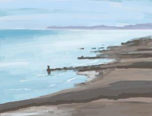 Danny Mooney 'Beer on The Pier, 22/7/16' iPad painting #APAD