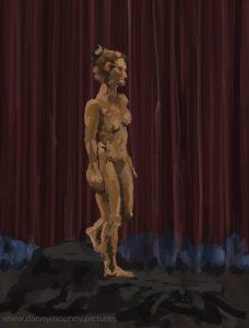 Danny Mooney 'Gillian #1, 27/7/2016' iPad painting #APAD