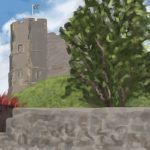Danny Mooney 'Lewes Castle, 2/7/16' iPad painting #APAD