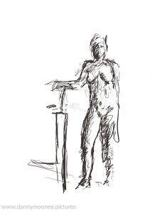 Danny Mooney 'Life drawing #1, 20/7/16' iPad painting #APAD