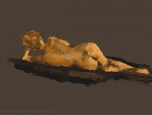 Danny Mooney 'Life drawing #2, 20/7/16' iPad painting #APAD