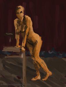Danny Mooney 'Life drawing #3, 20/7/16' iPad painting #APAD