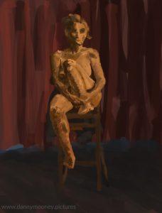 Danny Mooney 'Life drawing #4, 20/7/16' iPad painting #APAD