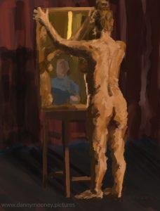 Danny Mooney 'Life drawing #5, 20/7/16' iPad painting #APAD