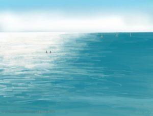 Danny Mooney 'Sea life, 19/7/16' iPad painting #APAD
