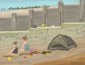 Danny Mooney 'Sea side day trip, 23/7/16' iPad painting #APAD