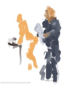 Danny Mooney 'Teaching, 20/7/16' iPad painting #APAD