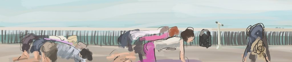 Danny Mooney 'Yoga on The Pier, 13/7/16' iPad painting #APAD