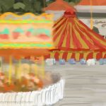 Danny Mooney 'Circus, 5/8/16' iPad painting #APAD