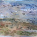 Danny Mooney 'Dawn 2, 5.7.16' Mixed media on paper 42 x 59.4 cm