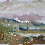 Danny Mooney 'Dawn 3, 5.7.16' Mixed media on paper 42 x 59.4 cm