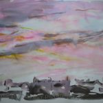 Danny Mooney 'Sunset #2, 31/7/2016' Mixed media 56 x 76 cm