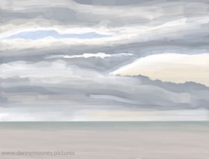 Danny Mooney 'Banks of cloud, 25/9/16' iPad painting #APAD