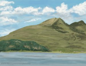 Danny Mooney 'Ben More, 18/8/16' iPad painting #APAD