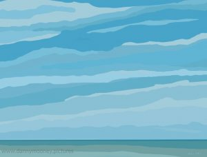 Danny Mooney 'Blue cloudy sky, 13/9/16' iPad painting #APAD