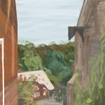 Danny Mooney 'Conduit Hill, Rye, 27/9/16' iPad painting #APAD