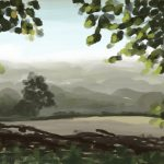 Danny Mooney 'Early morning mist, 22/9/16' iPad painting #APAD
