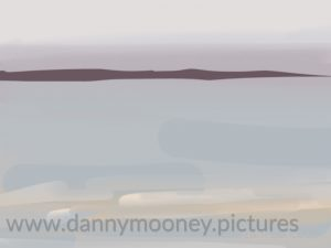 Danny Mooney 'Glance of Budle Bay, 24/8/16' iPad painting #APAD