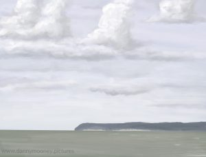 Danny Mooney 'Headland and clouds, 26/9/16' iPad painting #APAD