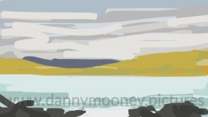 Danny Mooney 'Late sun on the hills, 23/8/16' iPhone painting #APAD